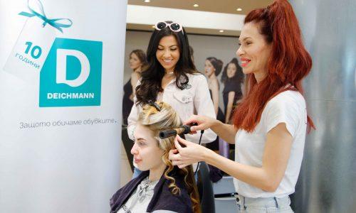 """Любимият й влогър Валери Йорданова бе неотлъчно до нея и й даваше ценни модни съвети през цялия ден! Професионалистите от """"COCO dry bar&more""""направиха косата на Велина неотразима!"""